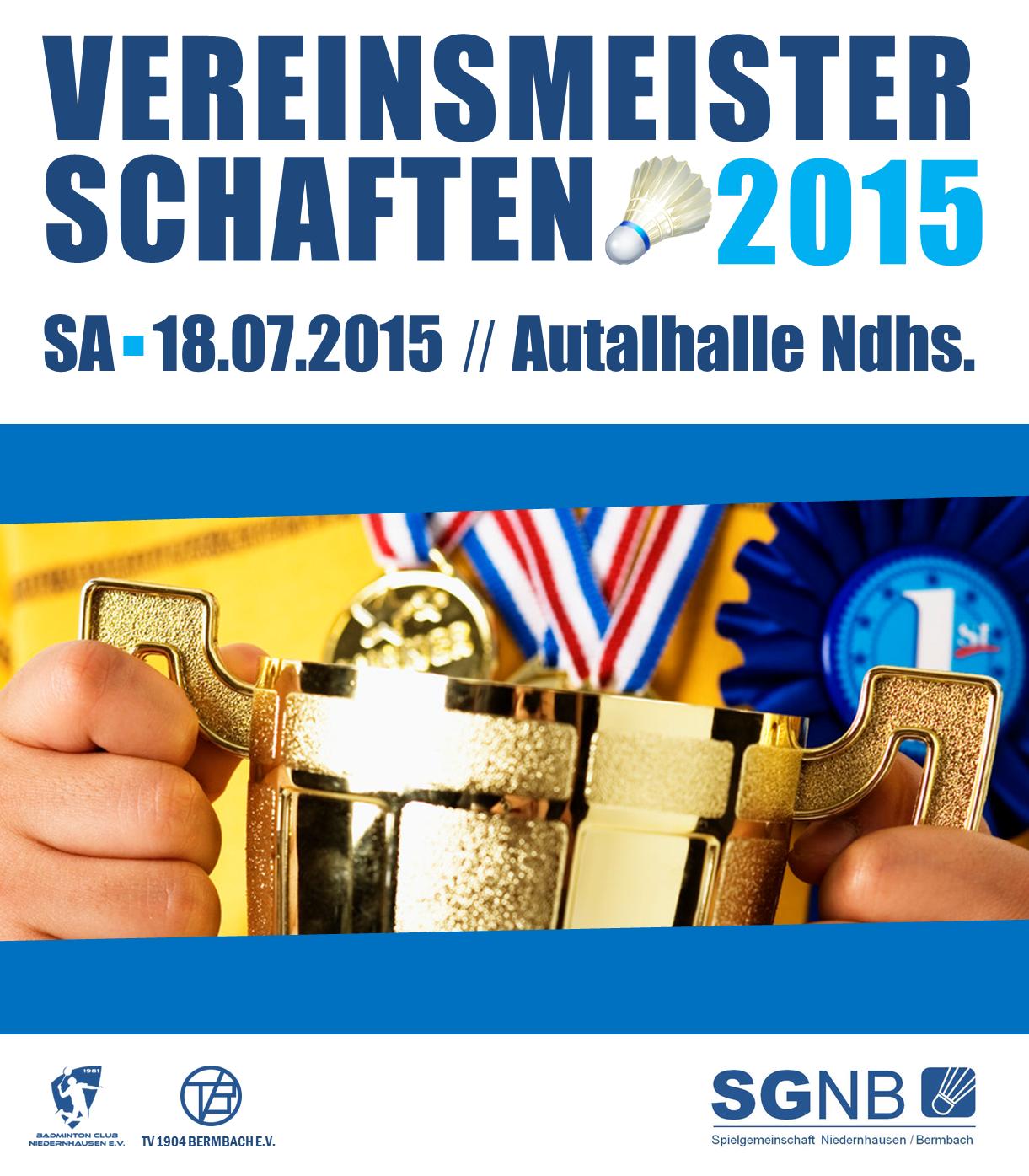 Banner Vereinsmeisterschaften 2015