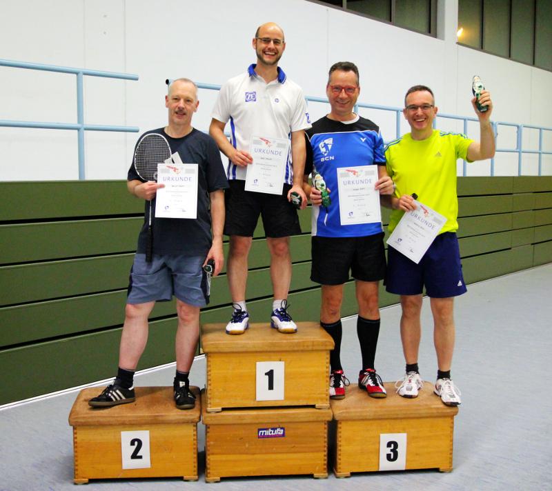 v.l.n.r.: Hartmut Wagner, René Salewski, Michael Ritter, Anthony Zerlin